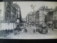 CPA TOULOUSE HAUTE GARONNE PLACE DU PONT NEUF TRAMWAY ATTELAGE CHEVAUX
