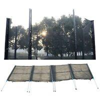 14ft Trampoline Net Enclosure Safety Fence Mesh w/ 8 Poles 16 Tubes