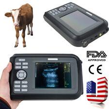 Portable Veterinary Ultrasound Scanner Machine Animals Pregnancy Rectal Probe Us