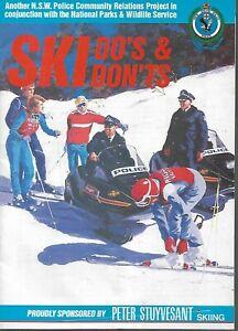 1980's NSW POLICE SKI DO'S AND DON'TS BROCHURE KOSCIUSCKO NATIONAL PARKS