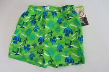 Mick Mack Infant Toddler Boys 24M Green Fish Swim Trunks Shorts Lined Bottoms