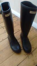 Hunter Botas Para Mujer Wellington Original De Neopreno Negro Talla 6 Reino Unido con plantillas