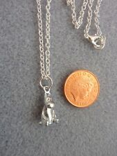 """Moomin Mini 3D Silver Charm Pendant Necklace 18"""" ChainTroll Birthday Gift # 246"""