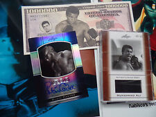 Rubin Carter /10 LOT signed Autograph auto 2011 Leaf Muhammad Ali GU REFRACTOR
