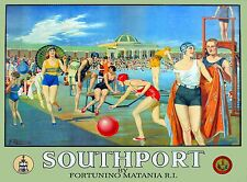 Southport Merseyside Great Britain England Vintage Travel Advertisement Poster
