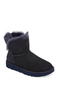 NEW UGG Classic Cuff Mini Boot shearling SUEDE  Imperial blue 11 (SE5)