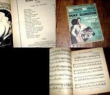 """20 nouveaux succès de Duke Ellington New Album """"Hot"""" vol.3 1938 partition piano"""