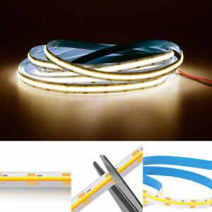 DC12V/24V COB LED Strip Lights 5M 384LEDs/M Bendable TV Cabinet Shelf Lighting