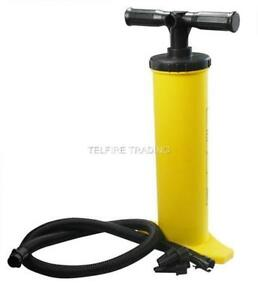 DELUXE AIR INFLATION HAND PUMP FOR AIR BEDS BOATS DINGHYS PADDLING POOLS NEW