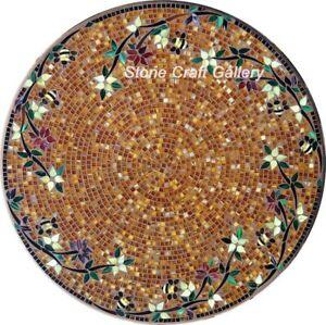 30'' Marble coffee Table Top Mosaic inlay art pietradura handmade Work