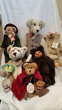 Lot of 6 Teddy Bears: Boyd's, Raike's, Kimbearly, Aurora, Heidi Gris