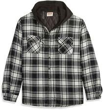 Wrangler Authentics Men's Long Sleeve Quilted Lined Flannel, Black, Size