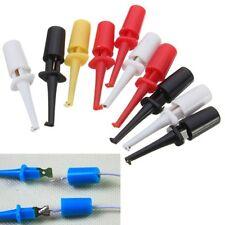 Multimeter Lead Wire Test Probe Hook Clip Set Grabbers Connector DIY 10Pcs LAC