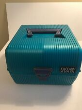 Vintage Sassaby Make up Train Case  Green  #102-19 Cosmetic Case Prop