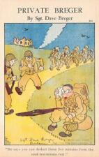 PRIVATE BREGER SOLDIER'S EXERTION U.S. ARMY COMIC WWII MILITARY POSTCARD (1943)