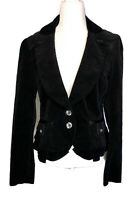 White House Black Market Jacket Medium Size 10 Corduroy Black Womens Blazer