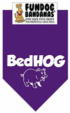 Bedhog - Fun Dog Bandana Small - Purple - 100% of SALE BENEFITS RESCUE