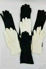 Vintage Womens Gloves Lot of 7 Classic Black & White Sz 6 1/2 Quality Gloves