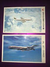 RARE VTG. JAL: Japan Air Lines Jet postcards. DC-8 & B-727 Airplanes