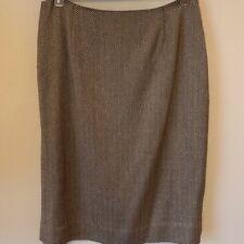 Brown & Tan Size 10 Herringbone Skirt