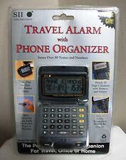 NEW SEIKO INSTRUMENTS SII ELECTRONIC TRAVEL ALARM CLOCK PHONE ORGANIZER DF-4011
