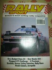 Ancienne REVUE RALLY SPORT August 90 Mazda 323 Peugeot GTI A5 Rallye Magazine