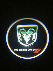 For Dodge Ram Courtesy Door LED Logo Projector Light 2Pc Welcome Ghost Light