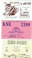 THREE (3) NICE QSL / CB RADIO CARDS FROM INDIANA IN HAM SHORT WAVE VINTAGE