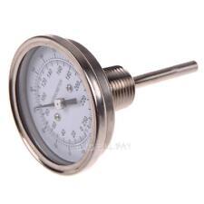 3'' BBQ Stainless Steel Thermometer Moonshine Still Condenser Brew Mash Gauge