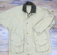 Filson L Large 760N Tin Cloth Tan Brown Dry Finish Hunting Field Jacket Coat