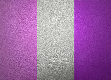 Fine Decor Pink/Silver/Purple Stripe Glitter Holographic Wallpaper (DL40792)
