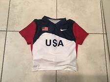 Nike USA Track & Field Team USA Olympics Shirt running Top USATF Wmns Large NEW
