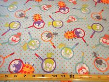 Its a Bugs Life Cotton Fabric Designed by KC Mick Light Blue BTY