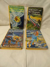 Tom Swift Adventure Books Lot of 4 Vintage Hardcovers Rocket Ship Jetmarine Etc