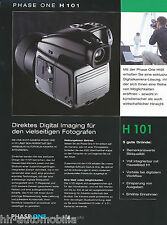 Prospekt Phase One H 101 Digital Imaging Hasselblad H1 10/02 D brochure Zubehör