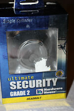 NEW - SINGLE CYLINDER GRADE 2 DEADBOLT - ULTIMATE SECURITY - SATIN STAINLESS