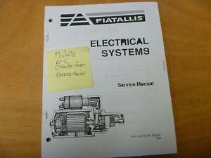 Fiat Allis 10-C Crawler Dozer Electrical System Wiring Diagrams Service Manual