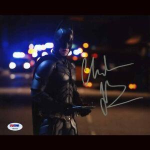 PSA Certified Christian Bale The Dark Knight Batman Handsignierte Signiert 8x10