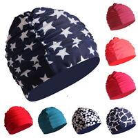 Free size Swimming Cap Sports Swim Pool Hat Elastic Nylon Turban for Men & Women