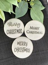 Merry Christmas Cookie Stamp. Christmas Embosser. Icing Fondant Stamp. Acrylic