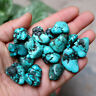 100G Natural Blue Turquoise - Rough Loose Gemstone Specimen Beads
