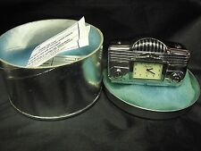 "RARE Vintage Tokyo Bay Mini Time Black Radio, MIB, 2.5"" Wide, Old New Stock"
