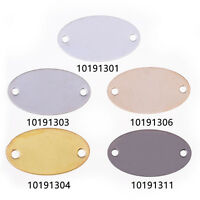 Brass Electroplate Oval Tag with Holes connector Stampings tags 16*9mm 20pcs