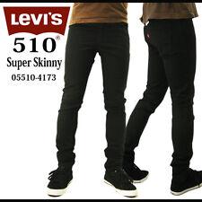 LEVIS Super SKINNY Trouser 29 30 BLACK Mens SIZE Denim JEANS Sz MAN Cotton PANT*