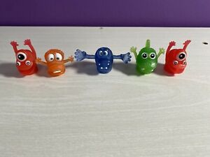 Lot of 5 Vintage Rubber Ugglies Jiggler Finger Puppet Monsters