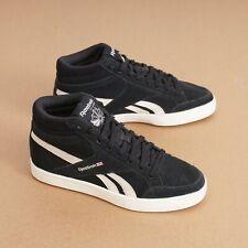 Reebok bd4490 Womens Classic Sneakers Royal Black Suede Hi Top England Size 6 US