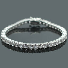 4 mm Round Cut Natural Morganite Gemstone 925 Sterling Silver Tennis Bracelet