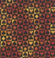Card suits orange black Michael Miller fabric