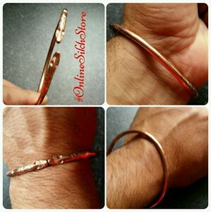 Pure Copper Punjabi Hindu Sikh Singh Khalsa Adjustable Snake Head Healing Kara H