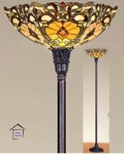 STUNNING TIFFANY STYLE HANDCRAFTED GLASS FLOOR LAMP